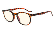 Computer Glasses UV Tinted Lenses Vintage Women Men Tortoise CG065