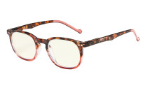 Computer Glasses UV Tinted Lenses Vintage Women Tortoise-Red CG065