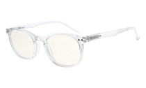 Computer Glasses UV Tinted Lenses Vintage Women Men Transparent Frame CG065