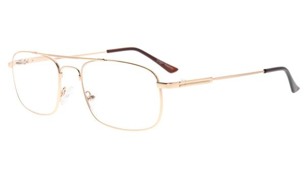 Memory Titanium Reading Glasses Bendable Bridge And Temple Readers Gold R1705