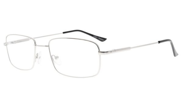 Memory Reading Glasses With Bendable Titanium Bridge And Temple Silver R1701