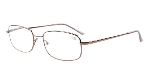 Bridge-flex Memory Titanium Spring Hinges Reading Glasses Brown R1644
