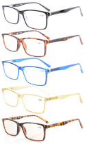 5-Pack Stylish Spring Hinges Reading Glasses R802-Mix