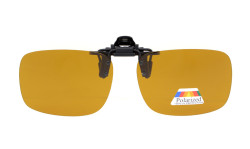 Flip-up Clip-on Sunglasses Polarized 60x43 MM 4-Pack Metal Glasses Clip Amber JQ3-4pcs