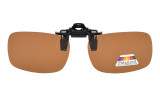 Flip-up Clip-on Sunglasses Polarized 59x39 MM 3-Pack Metal Glasses Clip Brown JQ2-3pcs