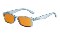 Ladies Blue Light Blocking Reading Glasses with Orange Tinted Filter Lens - Design Computer Readers Women - Blue DSR066