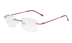 Ladies Frameless Reading Glasses - Lightweight Rimless Readers Women Red RWK9905