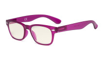 Ladies Computer Glasses - Blue Light Filter Readers Women - UV420 Retro Reading Eyeglasses - RoseRed UVRFH4