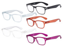 Ladies Reading Glasses - 5 Pack Retro Readers for Women RFH4