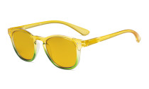 Ladies Blue Light Blocking Reading Glasses with Amber Tinted Filter Lens - Gradient Frame Computer Readers Women - Yellow-Green Frame HP144