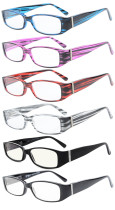 6-Pack Spring Temple Readers Include Reading Glasses Computer Glasses with Genuine Austrian Crystals Women R081-Mix