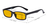 Computer Glasses Blue Light Blocking with Amber Tinted Filter Lens  - Anti Eye Strain Tired Eye Relief Reading Glasses Women Men,Tortoise HP103