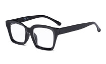 Ladies Oprah Style Reading Glasses - Oversized Square Design Readers for Women Black R9106