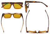 Oprah Blue Light Blocking Reading Glasses with Amber Tinted Filter Lens - Oversized Square Design Computer Readers Women - Tortoise HP9106