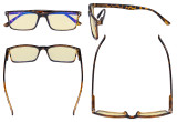 Computer Glasses - Blue Light Blocking Readers with Yellow Filter Lens - Stylish Reading Glasses  - Tortoise TM802