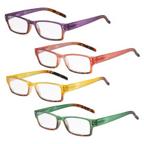 Ladies Reading Glasses - 4 Pack Readers for Women Reading R012D
