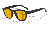 Blue Light Blocking Reading Glasses with Amber Tinted Filter Lens - Anti Blue Ray Computer Reader Eyeglasses - Tortoise HP089