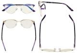 Ladies Blue Light Filter Glasses - Cateye Computer Eyeglasses Women- UV420 Eyewear - Purple LX19009-BB40