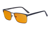 Blue Light Blocking Glasses Women Men with Orange Tinted Filter Lens for Sleeping - Anti Blue Ray Computer Eyeglasses - Blue LX19010-BB98