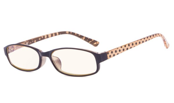Polka Dots Patterned Temples Reading Glasses Brown CG908P