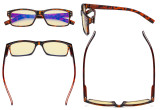 Blue Light Blocking Reading Glasses with Yellow Filter Lens - Vintage Computer Readers Women Men - Tortoise TMCG032