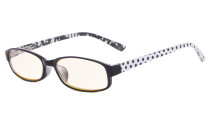 Polka Dots Patterned Temples Reading Glasses Black CG908P