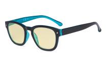 Blaulichtblockierung Brille mit gelber Filtergläser - Anti Blue Ray Computer-Brille Schwarz / Blau-BB60 Glas TM089