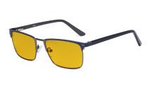 Blaulichtblockierung Brille Damen Herren mit bernsteinfarbener Filtergläser - Anti Blue Ray Computer Brille - Blau -BB90 Glas LX19010-BB90
