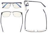 Blaulichtblockierung Brillen Damen Herren - UV420 Schutz Anti Blue Ray Computer Brillen Blau -BB40 Glas LX19010-BB40