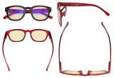 Blaulichtblockierung Brille mit gelber Filtergläser - Anti Blue Ray Computer-Brille Schwarz / Rot-BB60 Glas TM089