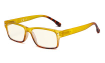 Blue Light Filter Glasses Women - UV420 Stylish Computer Reading Glasses - Yellow UVR108D