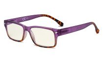 Blue Light Filter Glasses Women - UV420 Stylish Computer Reading Glasses - Purple UVR108D