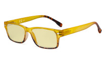 Blue Light Blocking Glasses Women with Yellow Filter Lens - Stylish Computer Reading Glasses - Yellow TM108D