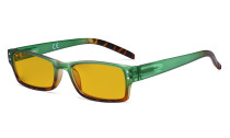 Blue Light Blocking Glasses with Amber Filter Lens - Fashion Computer Reading Glasses Women - Green HP012D