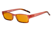 Blue Light Blocking Glasses with Orange Filter Lens for Sleeping  - Fashion Computer Reading Glasses Women - Red DS012D