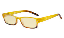 Blue Light Blocking Glasses with Yellow Filter Lens - Fashion Computer Reading Glasses Women - Yellow TM012D
