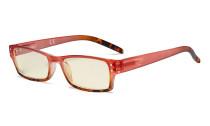 Blue Light Filter Glasses Women - UV420 Fashion Computer Reading Glasses - Red UVR012D
