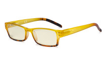 Blue Light Filter Glasses Women - UV420 Fashion Computer Reading Glasses - Yellow UVR012D