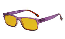 Blue Light Blocking Glasses Women with Amber Filter Lens - Stylish Computer Reading Glasses - Purple HP108D