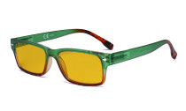 Blue Light Blocking Glasses Women with Amber Filter Lens - Stylish Computer Reading Glasses - Green HP108D