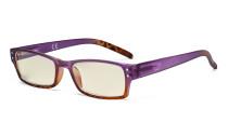 Blue Light Filter Glasses Women - UV420 Fashion Computer Reading Glasses - Purple UVR012D
