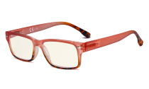 Blue Light Filter Glasses Women - UV420 Stylish Computer Reading Glasses - Red UVR108D