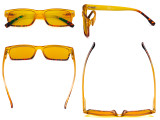 Blue Light Blocking Glasses Women with Amber Filter Lens - Stylish Computer Reading Glasses - Yellow HP108D