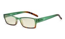 Blue Light Filter Glasses Women - UV420 Fashion Computer Reading Glasses - Green UVR012D