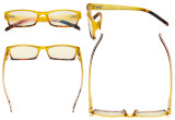 Blue Light Filter Glasses Women - UV420 Fashion Computer Reading Glasses - Yellow UVR012D
