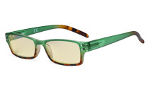 Blue Light Blocking Glasses with Yellow Filter Lens - Fashion Computer Reading Glasses Women - Green TM012D
