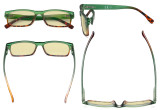 Blue Light Blocking Glasses Women with Yellow Filter Lens - Stylish Computer Reading Glasses - Green TM108D