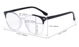Stylish Ladies Oversized Reading Glasses - 4 Pack Large Round Readers for Women R9002C