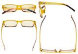 Blaulicht Filterbrille Damen - UV420 Schutz Modisch Computer Lesebrille Gelb - BB40 Glas UVR012D
