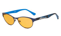 Computer Reading Glasses Blue Light Blocking Cat-eye Style Frame Colors Rubber Temples for Women Blue LX17004